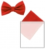 Max and Ellie Mens Bow Tie and Pocket Square Set in Poppy