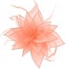 Failsworth Millinery Organza Leaves Fascinator in Powder
