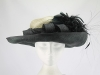 Presen of Barcelona Black and Cream Ascot Hat