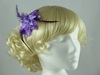 Glitter Flower Fascinator in Purple