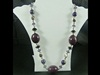 Large Bead Necklace in Purple