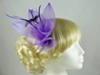 Large Bright Fascinator in Purple