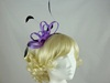 Fascinator with Loops and Gem in Purple