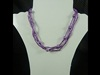 Tube Bead Necklace in Purple