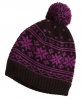 Hawkins Snowflakes Beanie Ski Hat in Purple & Black