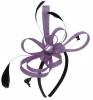 Aurora Collection Fascinator with Loops and Gem in Purple