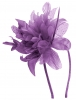 Aurora Collection Flower Aliceband Fascinator in Purple