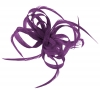 Aurora Collection Loops in Hessian Fascinator in Purple