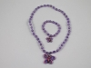 Butterfly Necklace and Bracelet Set in Purple