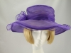 Purple Collapsible Occasion Hat
