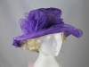 Collapsible Wedding Hat in Purple