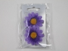 Daisy Hair Clips in Purple