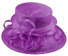 Elegance Collection Sinamay Loops Wedding Hat in Purple