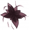 Failsworth Millinery Organza Leaves Fascinator in Purple