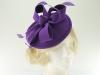 Failsworth Millinery Wool Felt Disc Headpiece in Purple