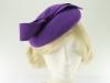 Failsworth Millinery Wool Felt Pillbox in Purple