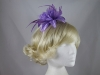 Flower Aliceband Fascinator in Purple