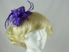 Flower and Biots Fascinator in Purple