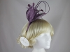 Hawkins Collection Quill and Leaves Fascinator in Purple