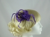 Loops in Hessian Fascinator in Purple