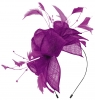 Max and Ellie Diamante Fascinator in Purple