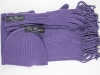 Pia Rossini Winter Hat with Matching Scarf and Gloves in Purple