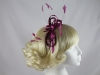 Purple Satin Loop Fascinator