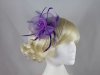 Swirl and Biots with Diamantes Fascinator in Purple