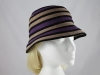 Victoria Ann Striped Winter Hat in Purple