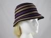 Victoria Ann Striped Winter Hat in Purple