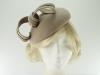 Failsworth Millinery Wool Felt Pillbox Headpiece in Putty