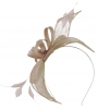 Failsworth Millinery Sinamay Fascinator in Quartz