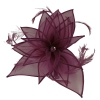 Failsworth Millinery Diamante Organza Fascinator in Raisin