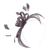 Failsworth Millinery Sinamay Fascinator in Raisin