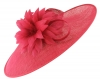 Failsworth Millinery Ascot Saucer Headpiece in Raspberry