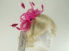 Hawkins Collection Sinamay Fascinator in Raspberry