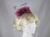 Rosette and Loops Fascinator in Raspberry