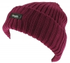 Thinsulate Ladies Chunky Beanie Ski Hat in Raspberry