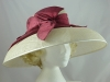 Raspberry and Ivory Wedding / Events Hat