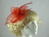 Aurora Collection Large Flower Fascinator in Red
