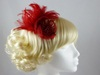 Victoria Fascinator in Red