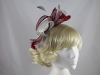 Large Loop Fascinator in Red & Grey