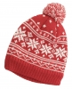 Hawkins Snowflakes Beanie Ski Hat in Red & White