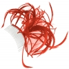 Aurora Collection Fascinator with Curled Fabric and Biots in Red