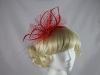 Red Biot Feather Fascinator