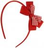 Daisy Daisy Aliceband Gingham Bow in Red