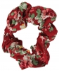 Daisy Daisy Cotton Floral Scrunchy in Red
