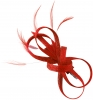 Elegance Collection Loops Clip Fascinator in Red