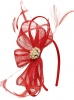 Elegance Collection Sinamay Headpiece Fascinator in Red