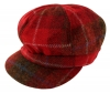 Failsworth Millinery Harris Tweed Bakerboy Cap in Red